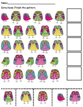 Owl patterning.  Free printable.