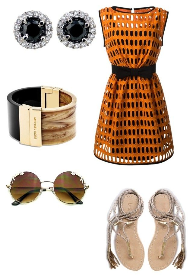 """""""Untitled #10"""" by clemohang on Polyvore featuring Moschino, L*Space and Michael Kors"""