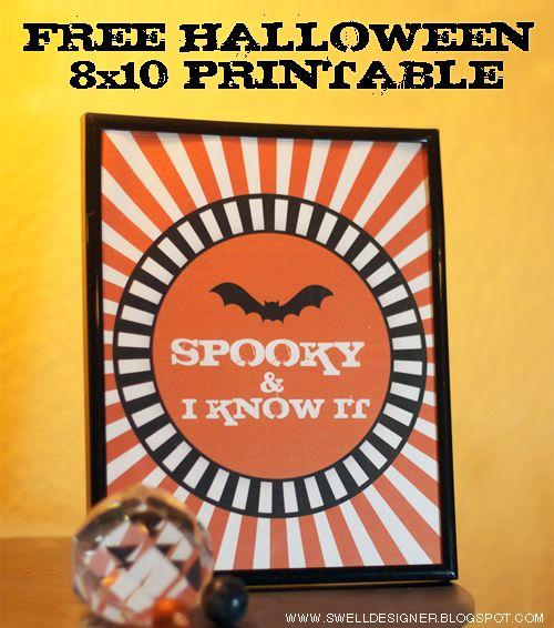 Spooky & I know it Halloween 8x10 printable