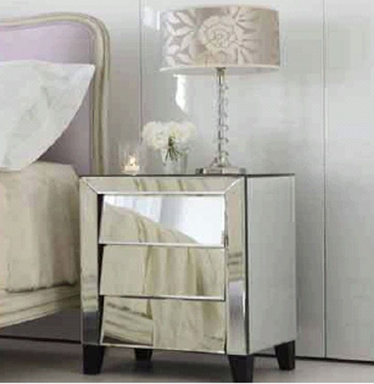 41 best bedside table images on pinterest bedside tables for Mirror bedside cabinets