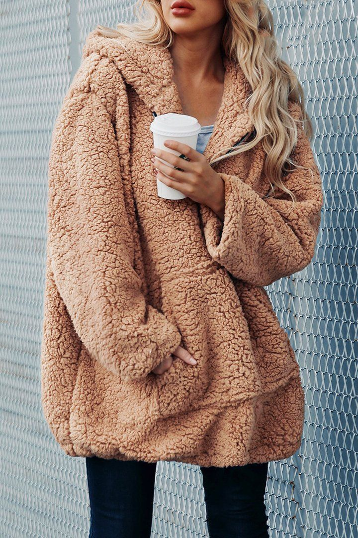 Brielle Popular Oversized Soft Comfy Sherpa Teddy Jacket