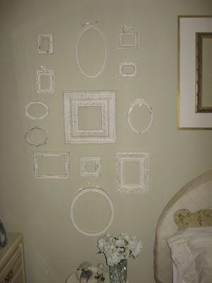 My latest projectis to makea collage from empty picture frames. I have a space on my bedroom wall that I think will be just perfect for i...