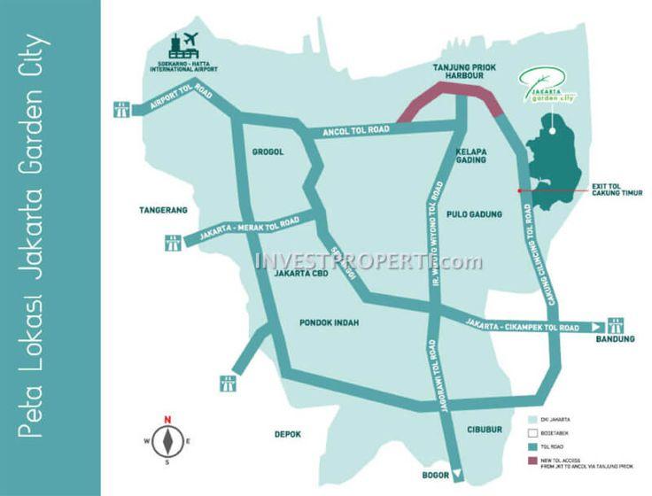Peta lokasi Jakarta Garden City #modernland #jgcmap