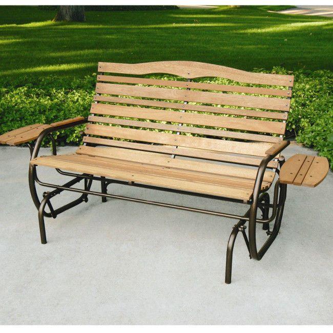 patio glider porch rocking swing bench 2 seat outdoor furniture rh pinterest com