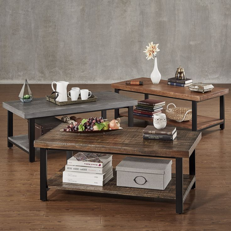 Cyra Industrial Reclaimed Rectangular Coffee Table By Tribecca Home By Tribecca Home Sofa End