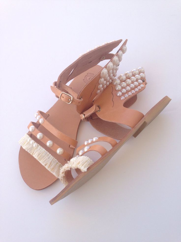A personal favourite from my Etsy shop https://www.etsy.com/listing/465852381/wedding-ancient-greek-sandals