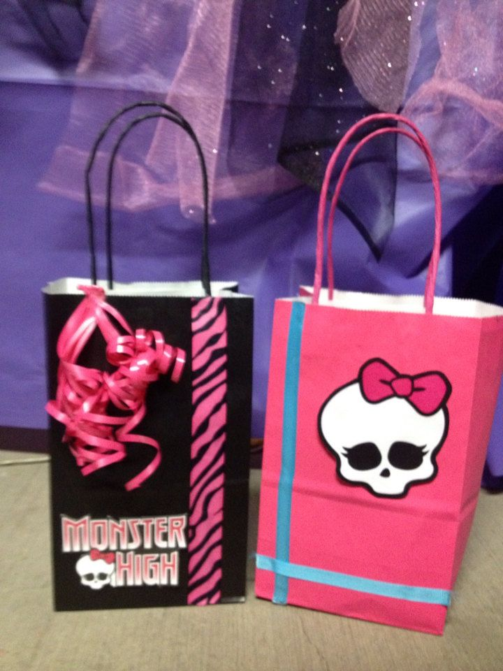 12Monster High Birthday Party Favor Bags by FantastikCreations, $19.00