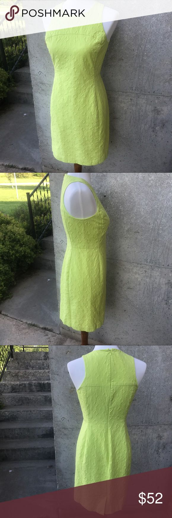 "Banana Republic Milly dress! Banana Republic lime green dress from the Milly collection! 14"" waist, 16"" chest, 34"" length, all measurements taken lying flat. Dress is lined with lime green. Excellent condition, smoke free, pet friendly🐶😂 home. Banana Republic Dresses Midi"