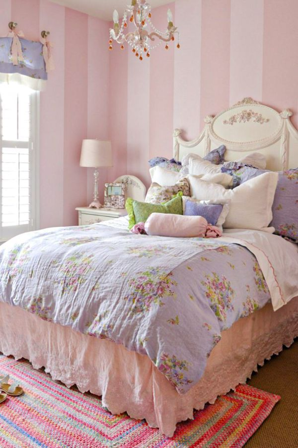 46 Best Blush Pink And Lovely Bedroom Design Ideas Part 26 Pink Walls Girls Room Chic Bedroom Shabby Chic Bedrooms
