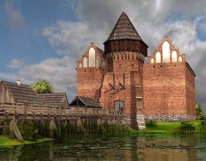 """Check out new work on my @Behance portfolio: """"digital reconstruction of the castle in Liw (Poland)"""" http://be.net/gallery/34809235/digital-reconstruction-of-the-castle-in-Liw-(Poland)"""