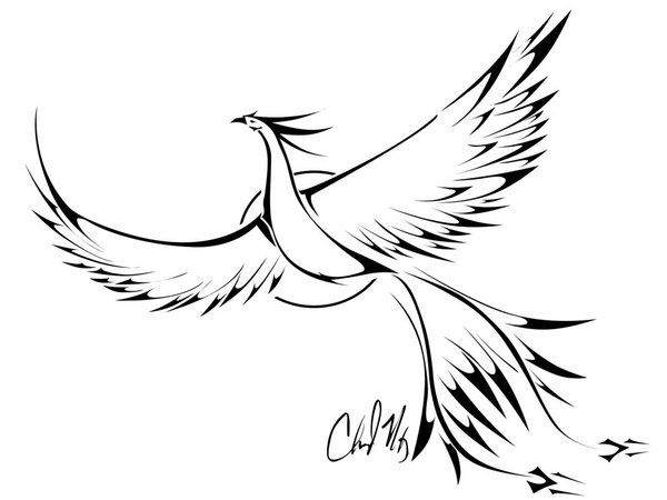 Phoenix bird-Represents strength,rebirth,determination. (possible tattoo?? ) Im really considering it..KLA