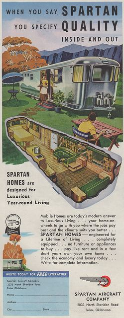 Fabulous color ad for the 1953 Airstream Spartan travel trailer.