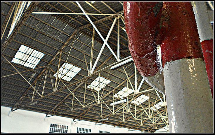 En una de les naus interiors destaca encara l'armadura de ferro que sosté la coberta.  La Siberia és un dels dos únics vestigis que romanen de la indústria del gel a Barcelona.