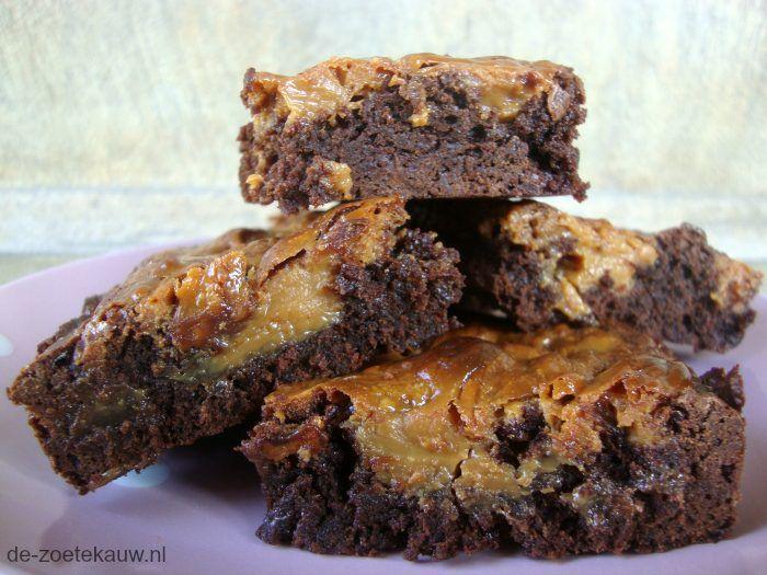 Karamel brownies