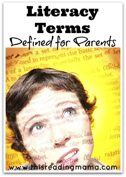 Literacy Terms Defined for Parents - super helpful (there's so much jargon we use as teachers!)