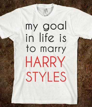one direction merchandise | my goals in life is to marry harry styles - One Direction on Wanelo