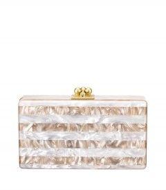 Edie Parker Jean Striped Clutch - Shop summer neutrals: http://shop.harpersbazaar.com/trends/the-new-neutrals