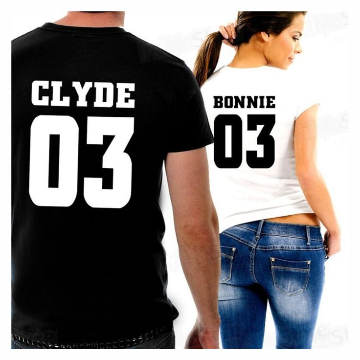 Valentine Shirts Women/Men Bonnie Bonnie 03 CLYDE 03 couples leisure cotton short sleeve T-shirt euro size O neck t-shirts #Affiliate
