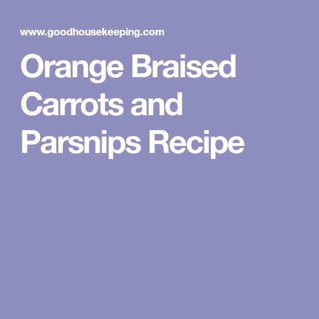 Orange Braised Carrots and Parsnips Recipe