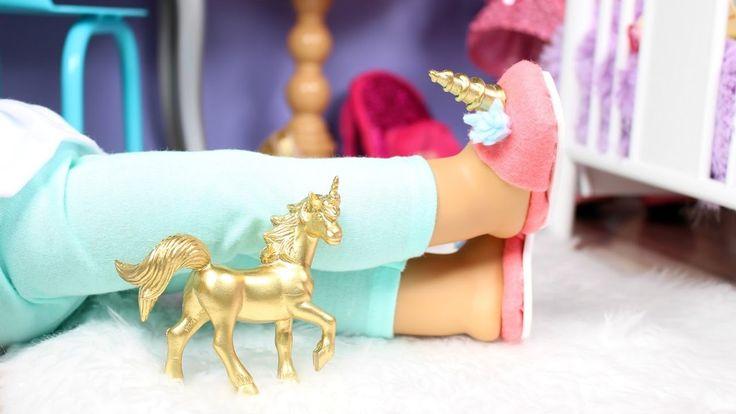 DIY UNICORN SLIPPERS   American Girl Doll Unicorn Slippers<< LOVIN ITTT