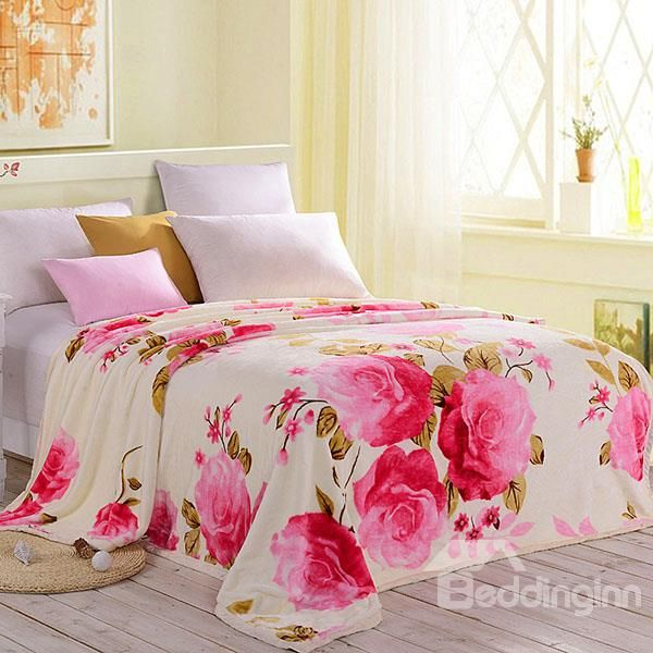 Double Layer Ultra Soft Blooming Rosa Chinensis Thick Blanket  on sale, Buy Retail Price Flower Blankets at Beddinginn.com http://www.beddinginn.com/product/Double-Layer-Ultra-Soft-Blooming-Rosa-Chinensis-Thick-Blanket-11175743.html Buy More http://www.beddinginn.com/Custom-Flower-Blankets-104495/