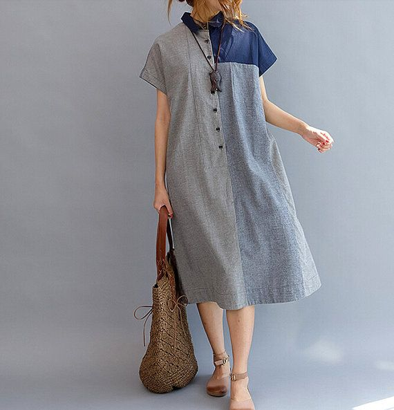 Loose Fitting Cotton womens Long dress by MaLieb on Etsy, $105.00