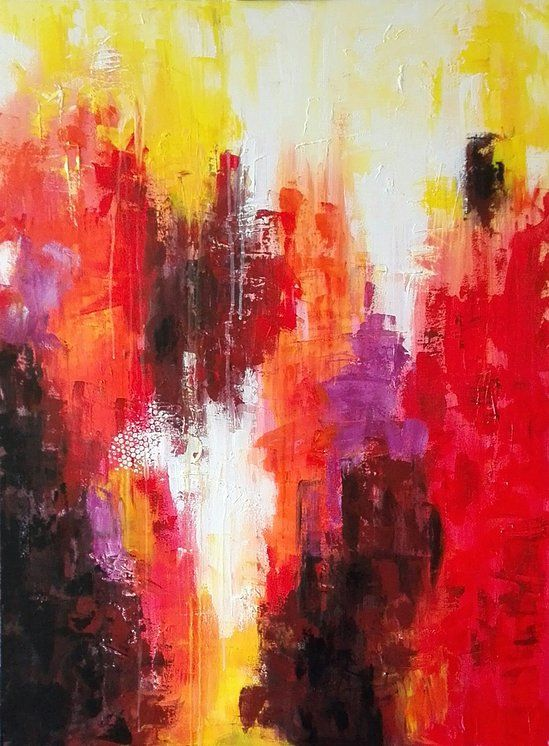 "NZ/NL Artist: FJS-Art - Acrylic painting on canvas - ""Red"" - abstract - homedecoration - wallART - www.fjs-art.com"
