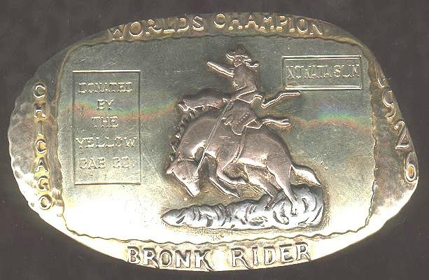 1926 World's Champion Bronc Rider | Rodeo Trophy Buckles ...
