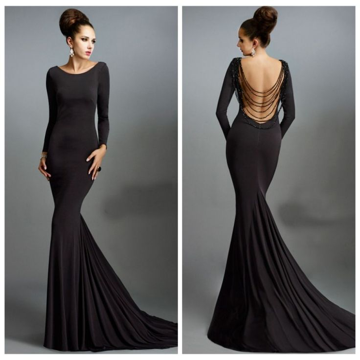 16 best Tasteful Long Black Evening Dresses Ideas images on ...