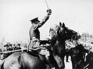 In 1932, the Harbour Bridge had a slightly controversial opening when a right-wing paramilitary protester on horseback, Francis De Groot, slashed the opening ceremony ribbon.