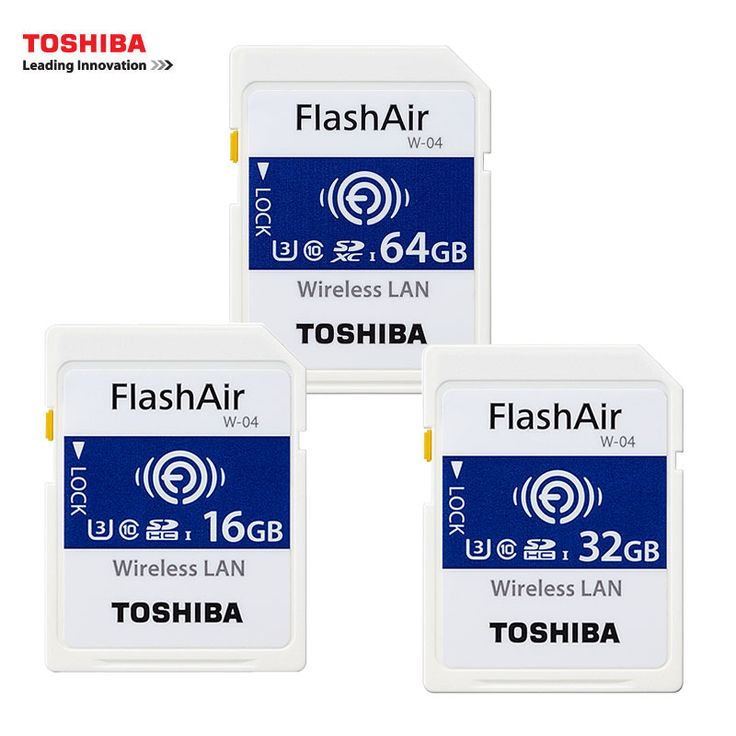 Newest Toshiba Shared Memory SD Card 16GB 32GB SDHC U3 CLASS 10 Wireless SD Memory Card 64GB SDXC Flash Memory WIFI SD Card W-04 #Affiliate