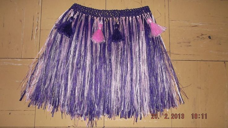 como hacer una falda hawaiana