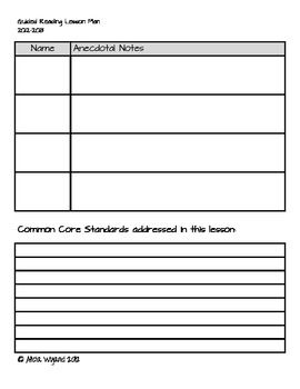 Guided reading plan template classroom ideas pinterest for Reading recovery lesson plan template