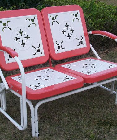 Would love to have this! Brings back memories of Grandma's house. :)  Vintage Red Retro Glider #zulily #zulilyfinds