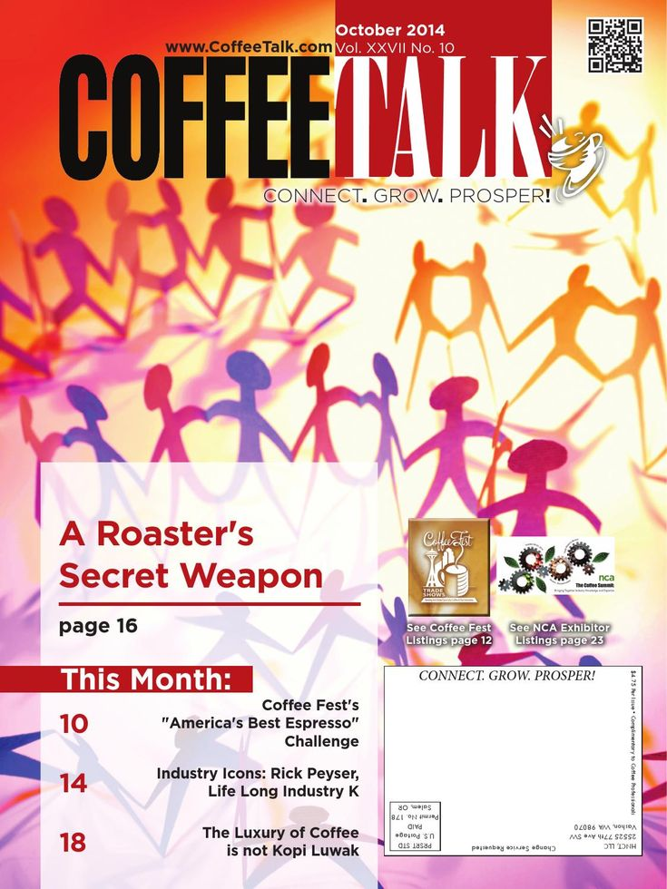 "October 2014 October Top Stories: A Roaster's Secret Weapon Coffee Fest's ""America's Best Espresso"" Challenge Industry Icons: Rick Peyser, Life Long Industry K The Luxury of Coffee is no Kopi Luwak INFORMATION IS POWER - Do you know as much as your competition?"