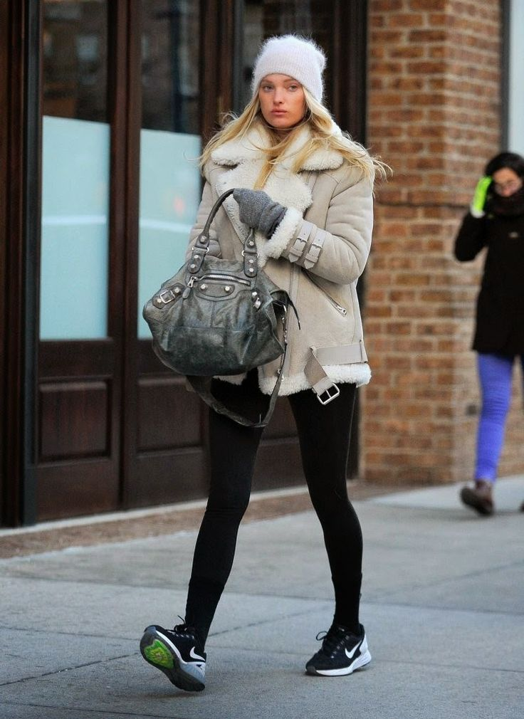 #ElsaHosk all rugged up #offduty in NYC.