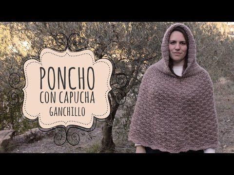 Tutorial Poncho con Capucha Fácil y Rápido Ganchillo   Crochet