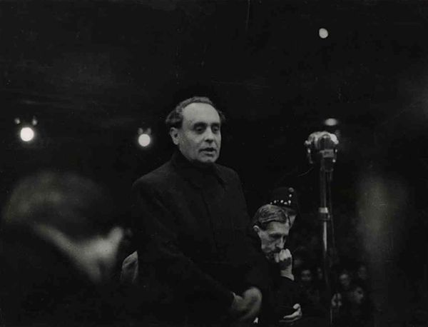 Ferenc Szálasi, the Hungarian Naze, making his last speech before execution 1946