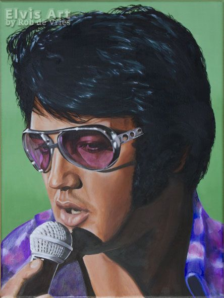 """Just finished this painting, assignment from an Elvis fan from Ireland. It has to dry for a couple of days and then it will be on its way to Ireland :-) """"Got my mojo working"""", Oil on canvas, 40 x 30 cm. www.elvis-art.com"""