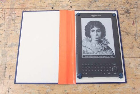 make an ipad or kindle case from an old book