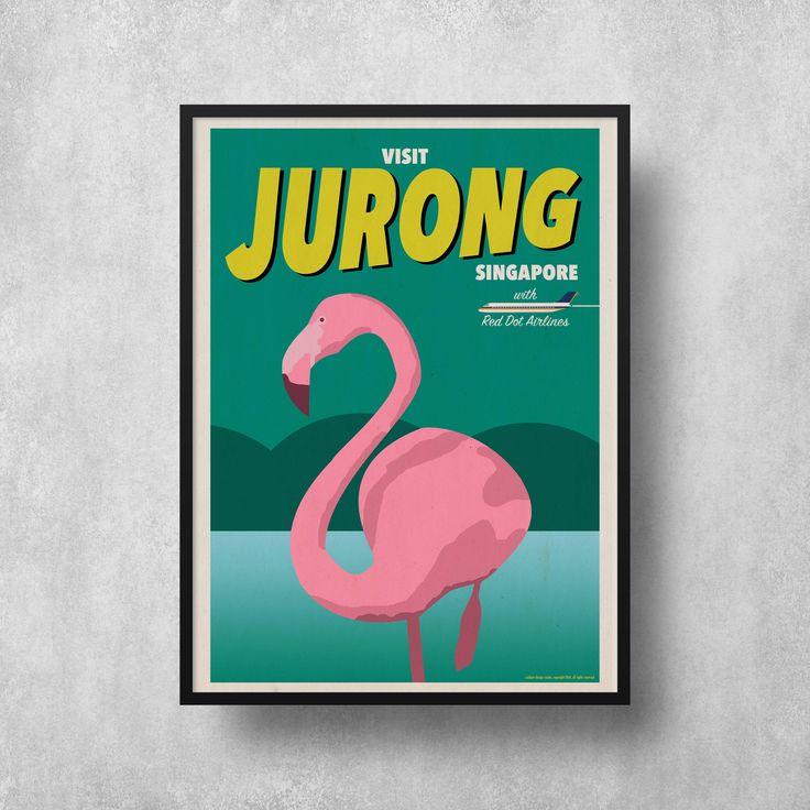 Jurong Vintage Travel Poster / eck&art design studio