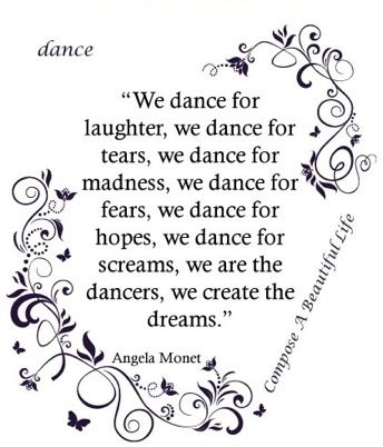 We dance for