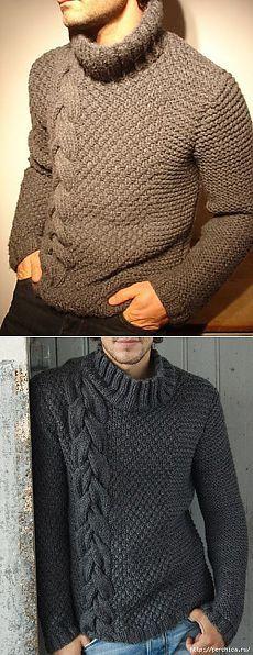 Шикарный мужской пуловер