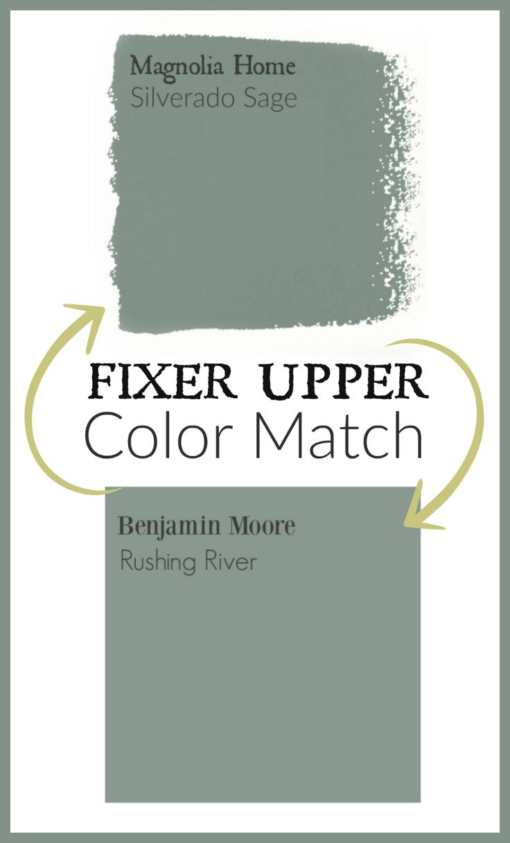 Fixer Upper Paint color matched to Benjamin Moore paint.