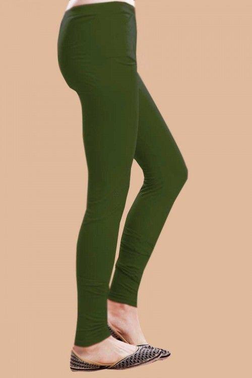 Green Color Legging Online http://www.andaazfashion.co.uk/womens/legging-s-salwar