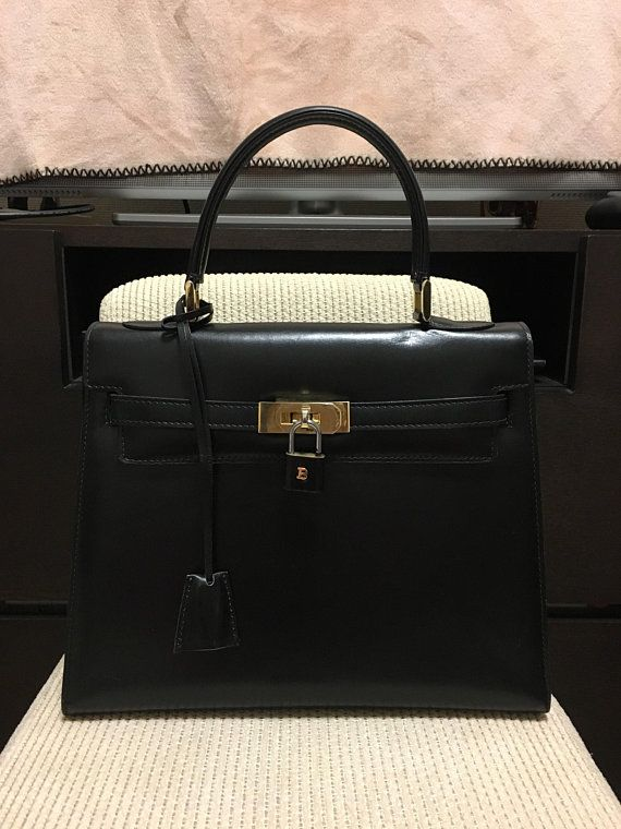 6ec3be530b37 Authentic Bally Vintage Kelly Style Bag