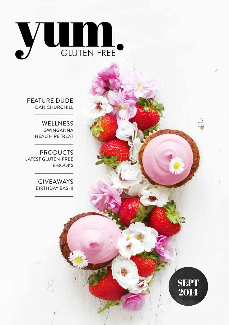 Best 25 magazine cover page ideas on pinterest editorial design yum gluten free magazine september 2014 pronofoot35fo Choice Image
