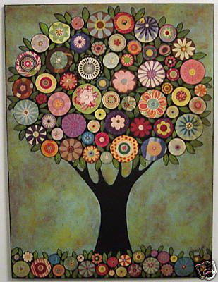 Fun Abstract Tree Painting                                                                                                                                                      Más