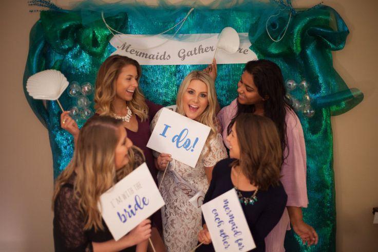 Mermaid Bridal Shower   Under The Sea   Wedding   DIY Photobooth   Ocean Photobooth   Mermaids