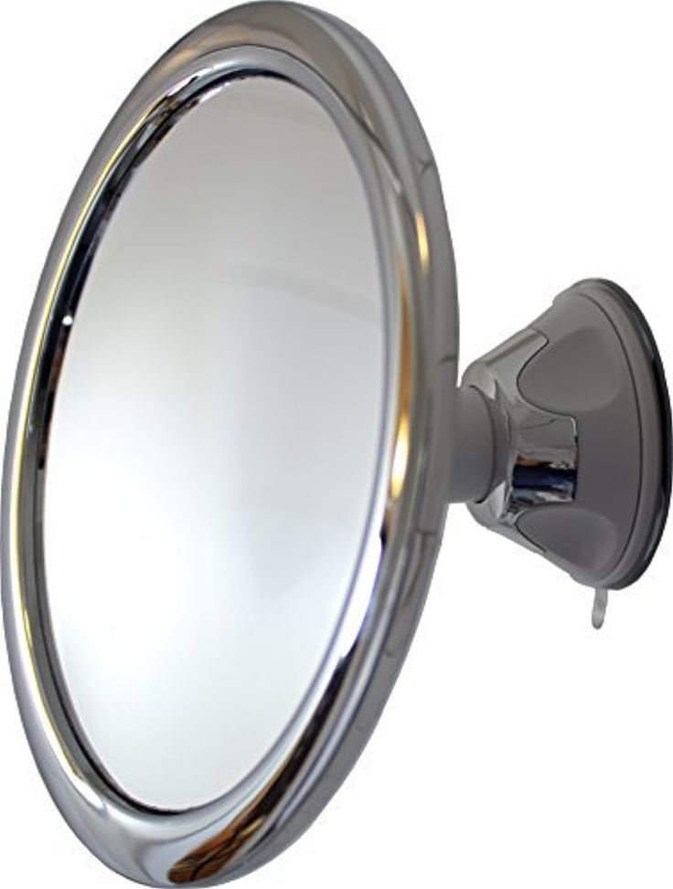 fog free 3x shower mirror and makeup mirror by mirror on a rope with locking suction mount and ball joint swivel3x by mirror on a rope